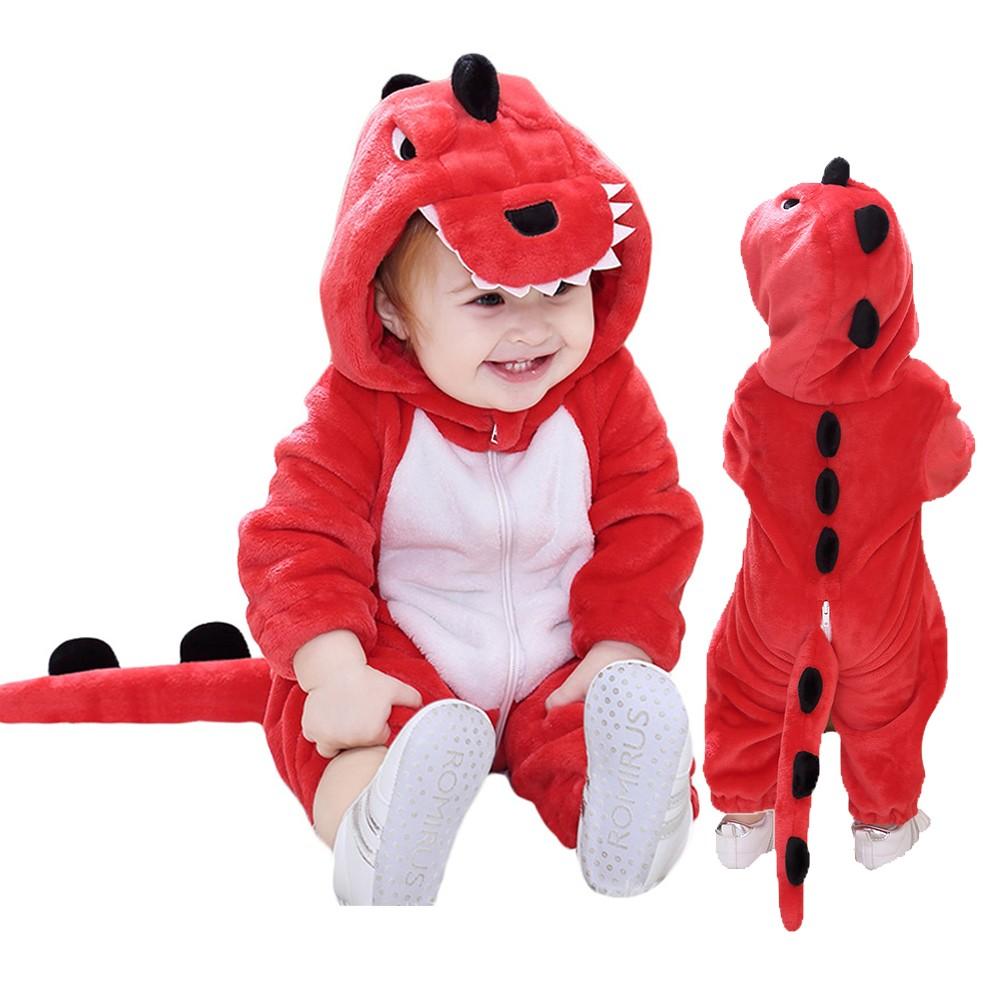 Kleinkind Roter Dinosaurier Onesie Baby Kostüm Overalls Baby Outfits