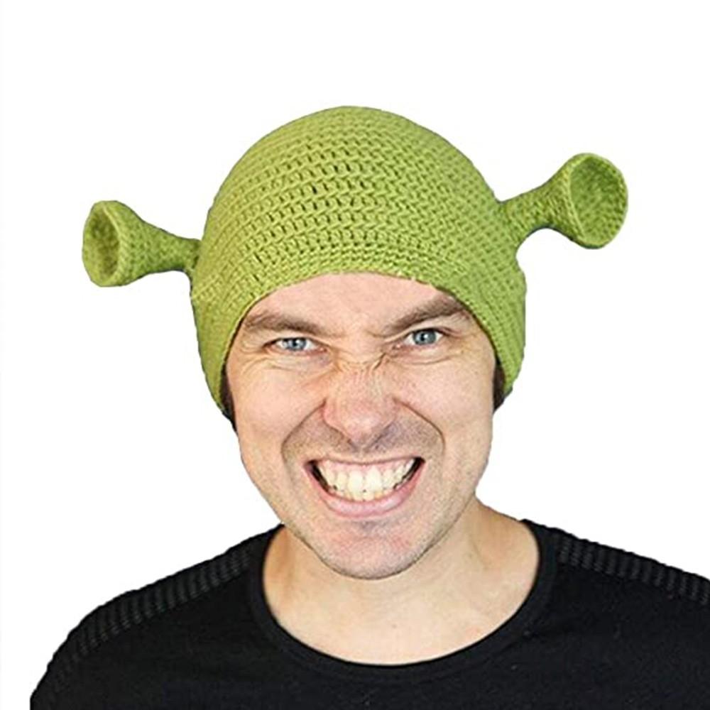 Grüne Monster Shrek Hut Strickmütze Unisex