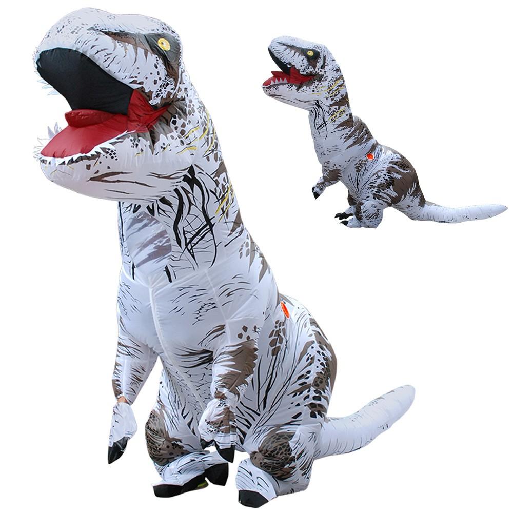 Kostüm Aufblasbarer T-Rex für Erwachsene und Kinder Grau