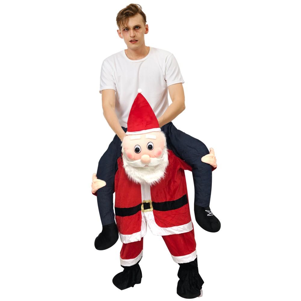 Weihnachtsmann Huckepack Kostüm Carry Me Kostüm Erwachsene